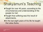 shakyamuni s teaching