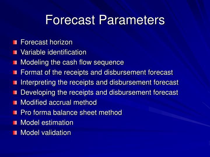 Forecast Parameters