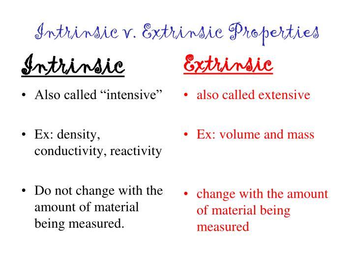 Intrinsic v. Extrinsic Properties