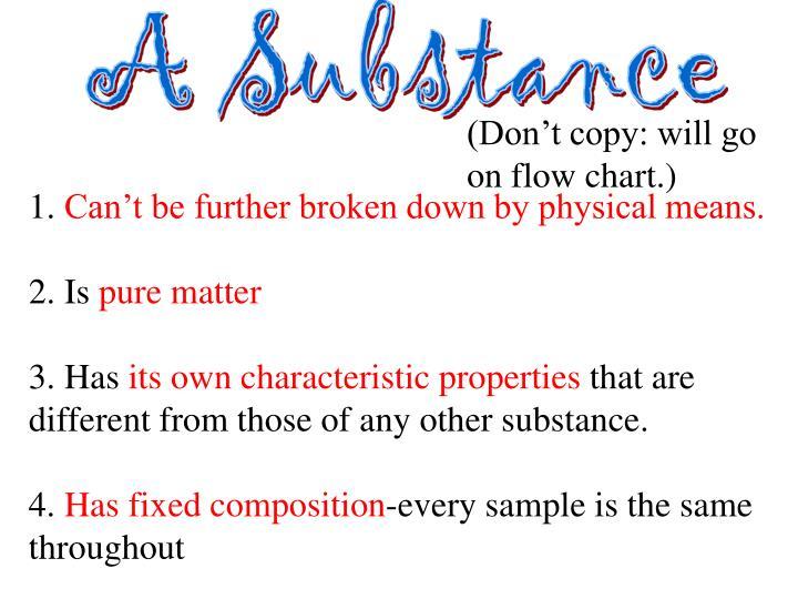 A Substance