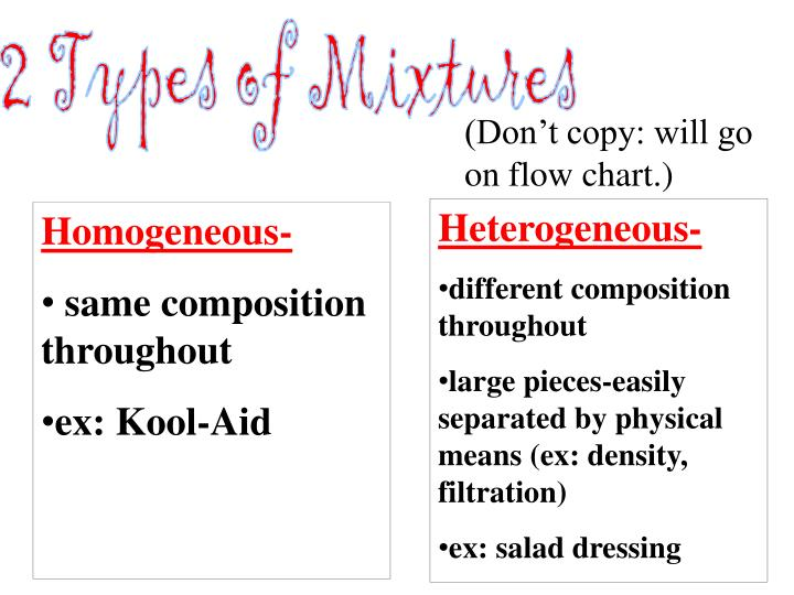 2 Types of Mixtures