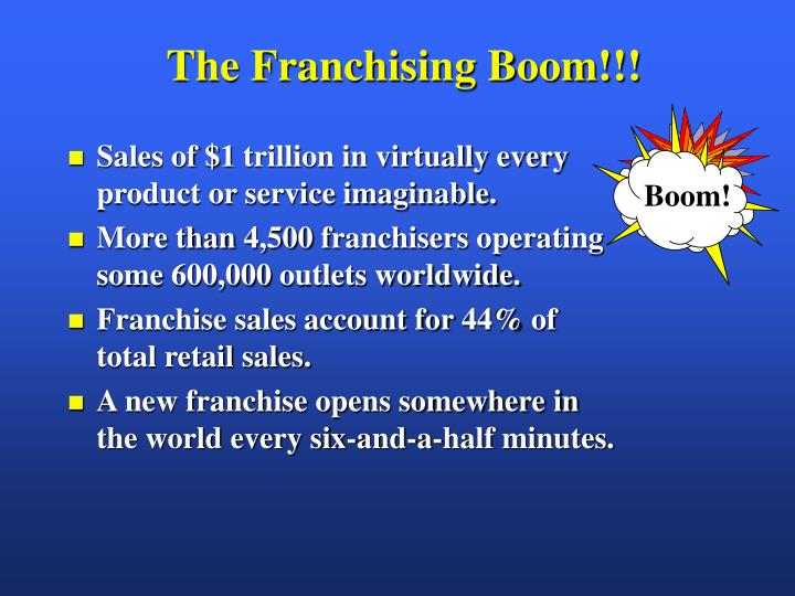 The Franchising Boom!!!