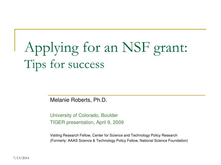 applying for an nsf grant tips for success