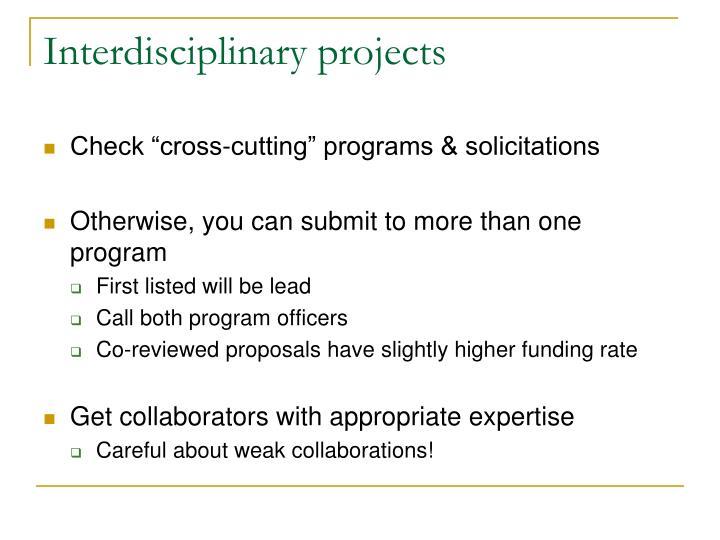 Interdisciplinary projects