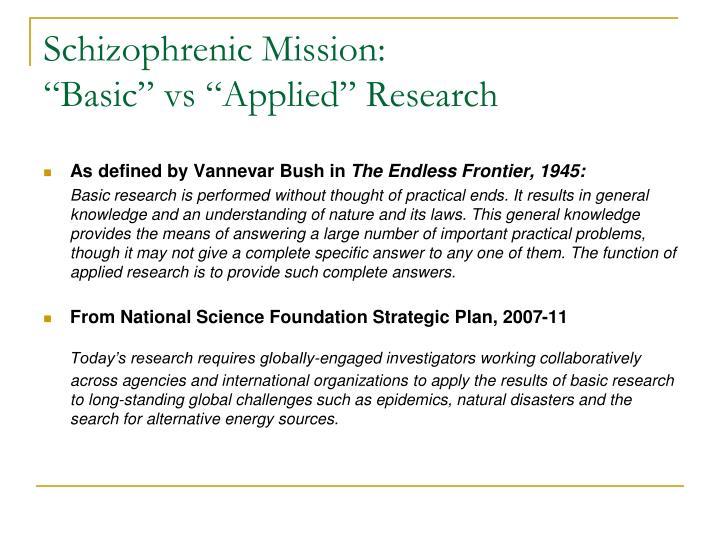 Schizophrenic Mission: