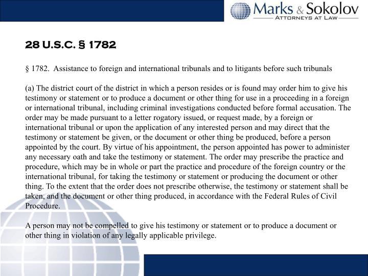 28 U.S.C. § 1782