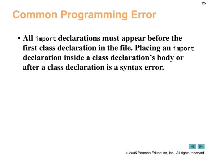 Common Programming Error