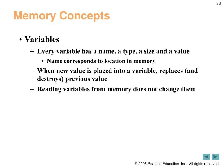Memory Concepts