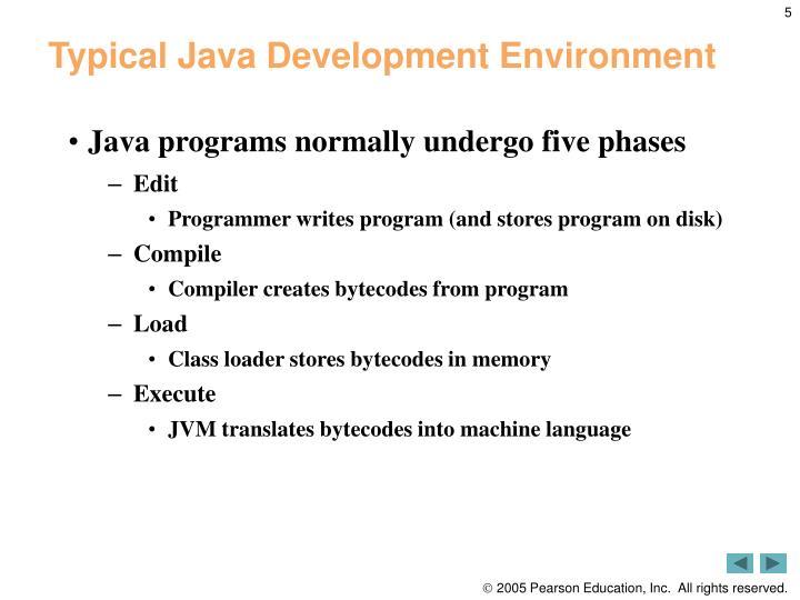 Typical Java Development Environment