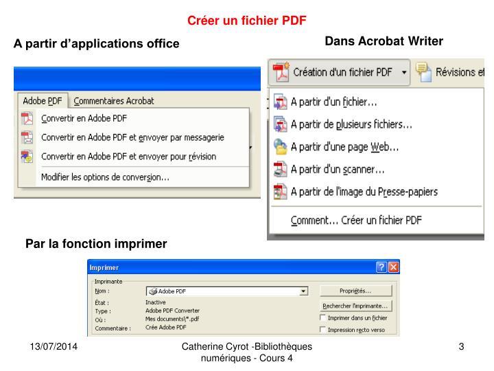 Créer un fichier PDF