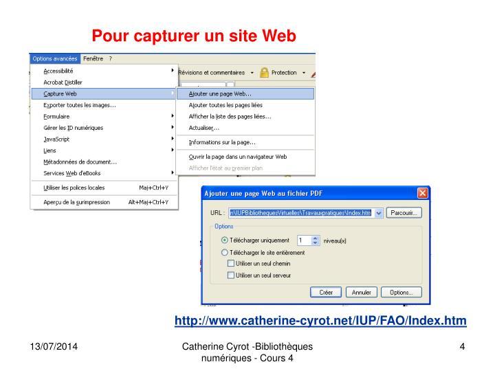 Pour capturer un site Web
