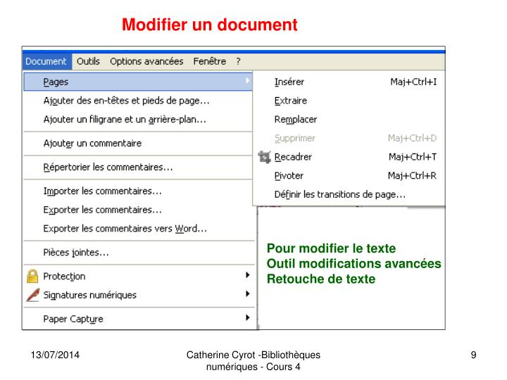 Modifier un document