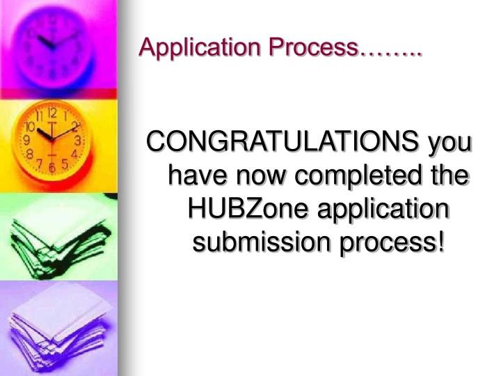 Application Process……..