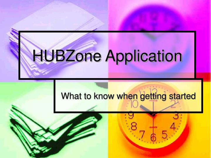 Hubzone application