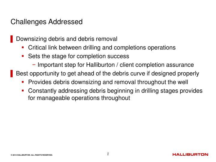 Challenges Addressed