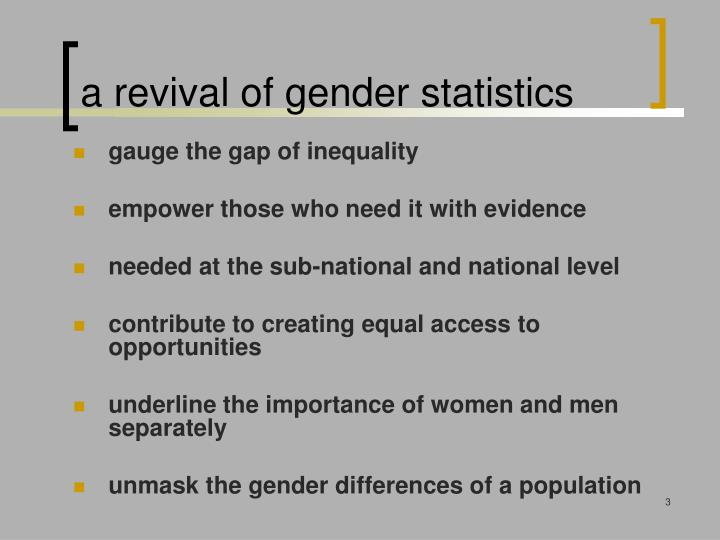 A revival of gender statistics