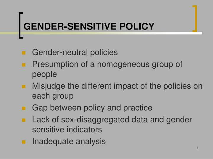 Gender-sensitive Policy