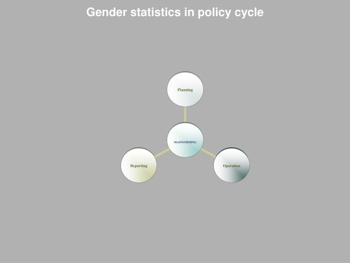 Gender statistics in policy cycle