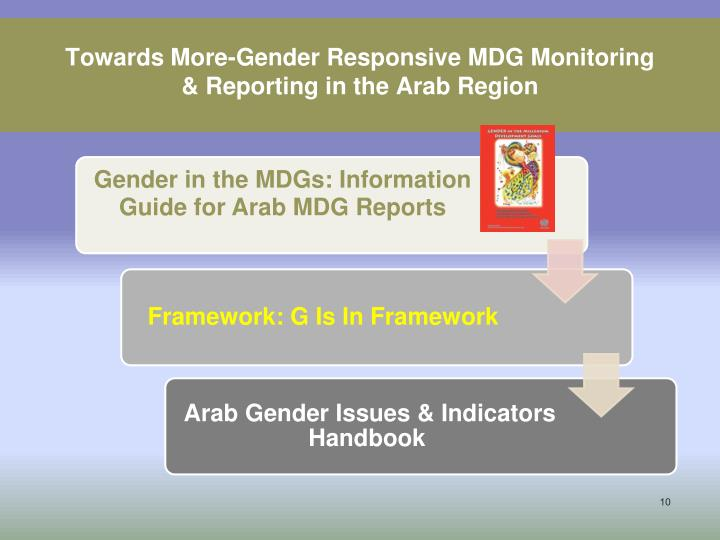 Towards More-Gender Responsive MDG Monitoring