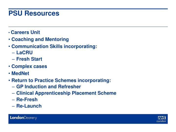 PSU Resources