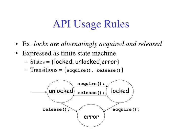 API Usage Rules