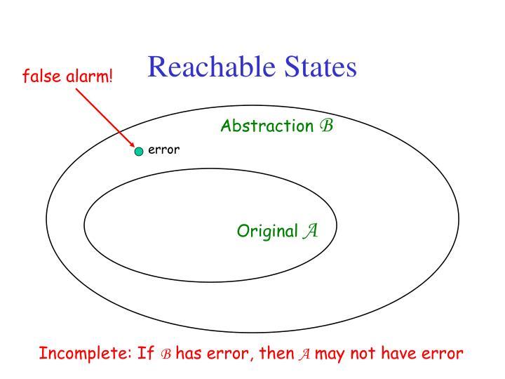 Reachable States