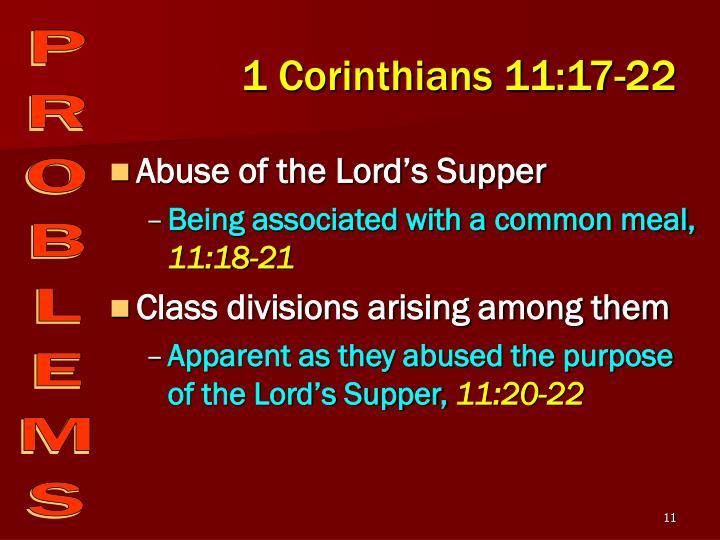 1 Corinthians 11:17-22