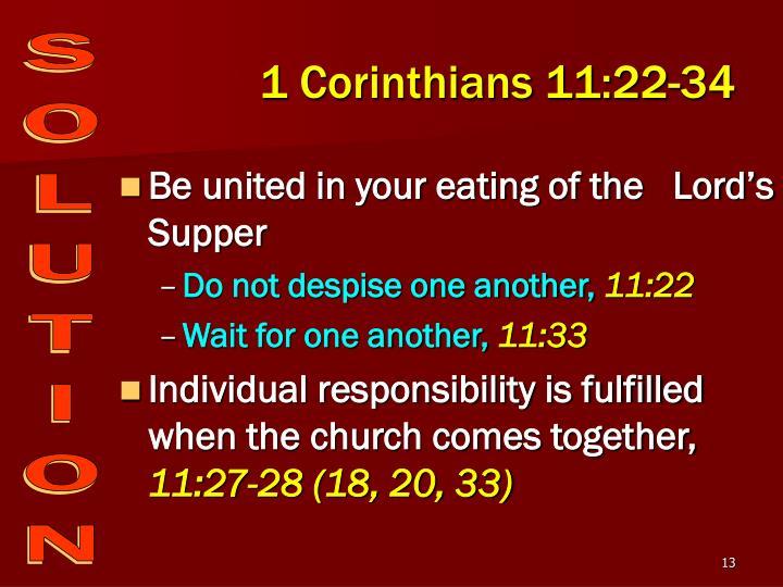 1 Corinthians 11:22-34