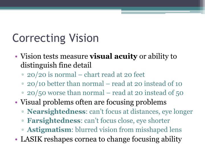 Correcting Vision