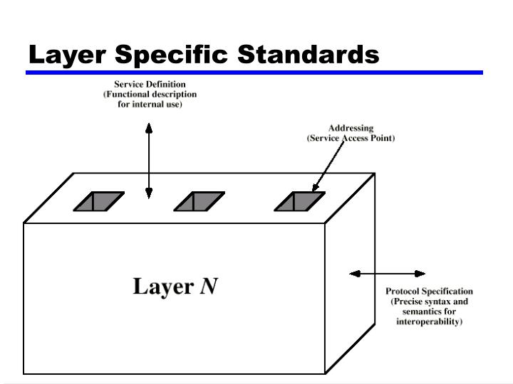 Layer Specific Standards