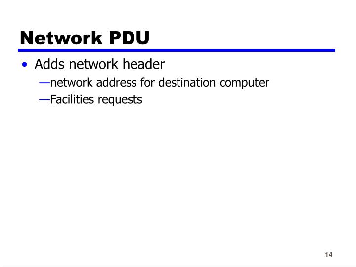 Network PDU