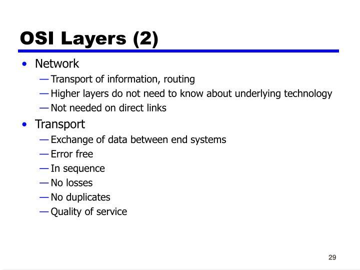 OSI Layers (2)
