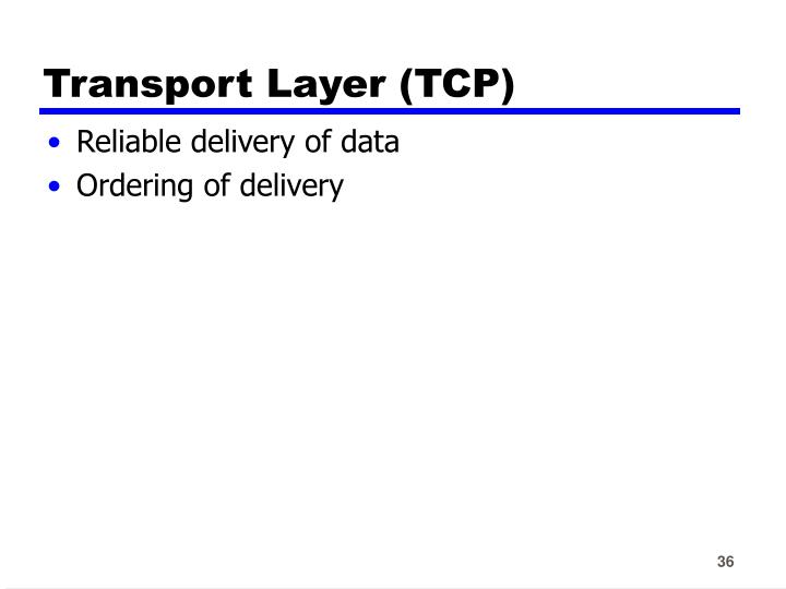 Transport Layer (TCP)