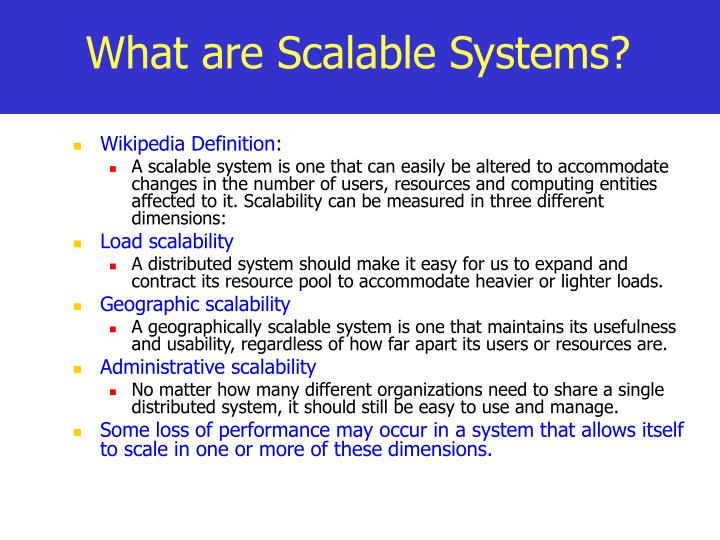 What are Scalable Systems?