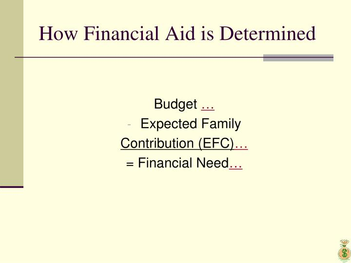 How Financial Aid is Determined