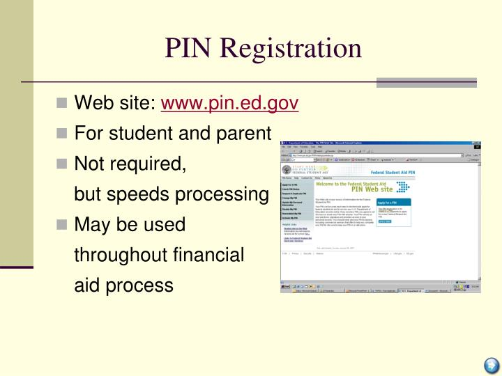 PIN Registration