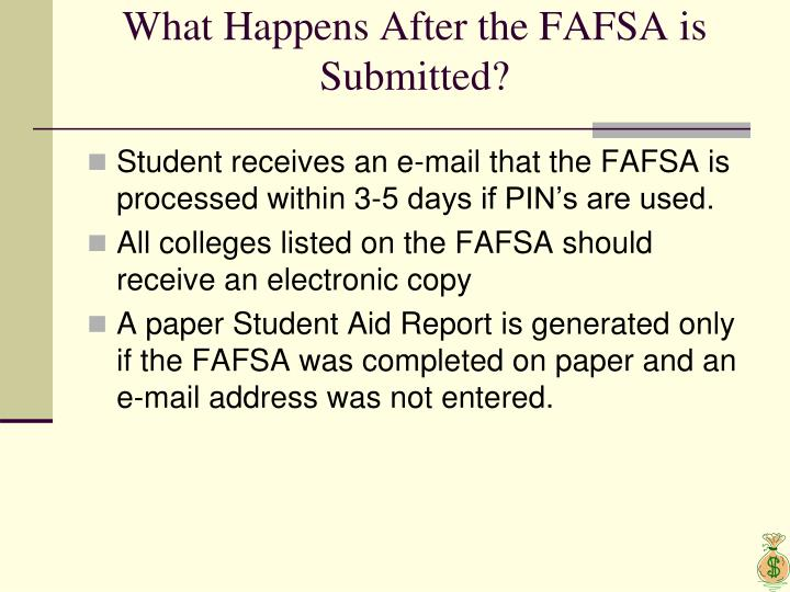 What Happens After the FAFSA is Submitted?