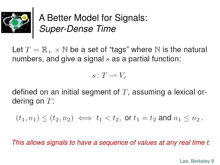 A Better Model for Signals: