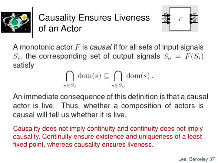 Causality Ensures Liveness