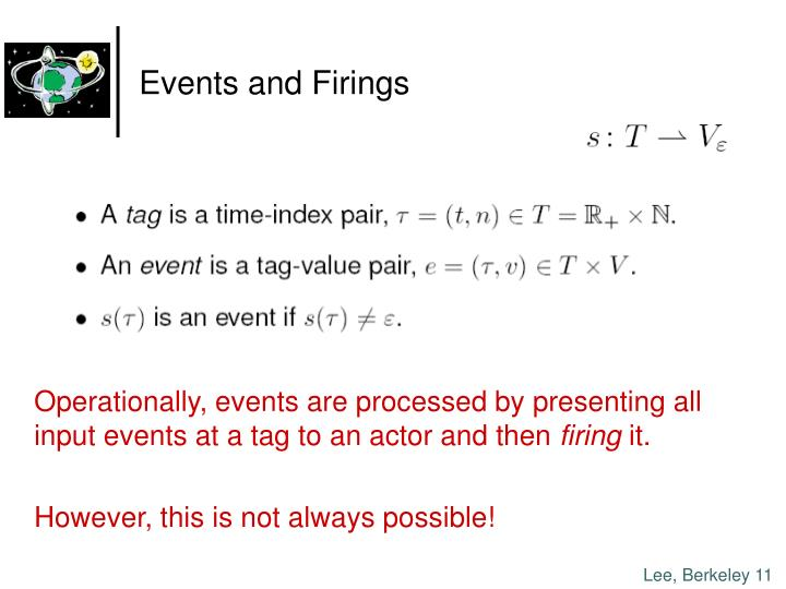 Events and Firings