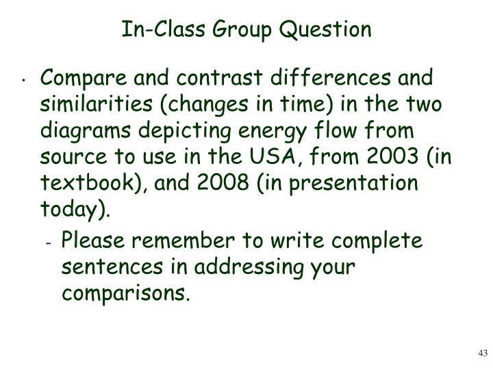 In-Class Group Question