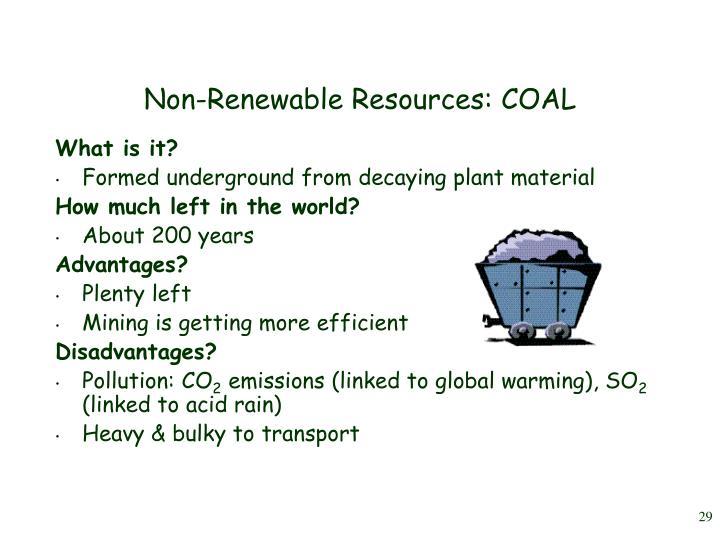 Non-Renewable Resources: COAL
