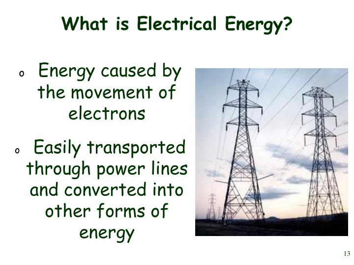 Energy caused by    the movement of electrons