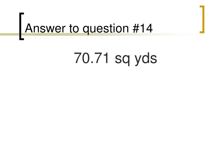 Answer to question #14