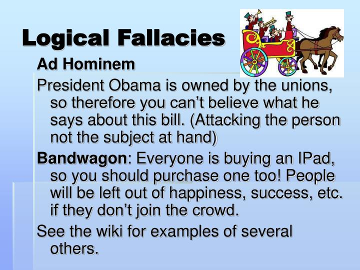 logical fallacy essays Fallacy paper essay by tholtmota, university, bachelor's, a+ logical fallacies of insufficient evidence are fallacies that occur because the premises.