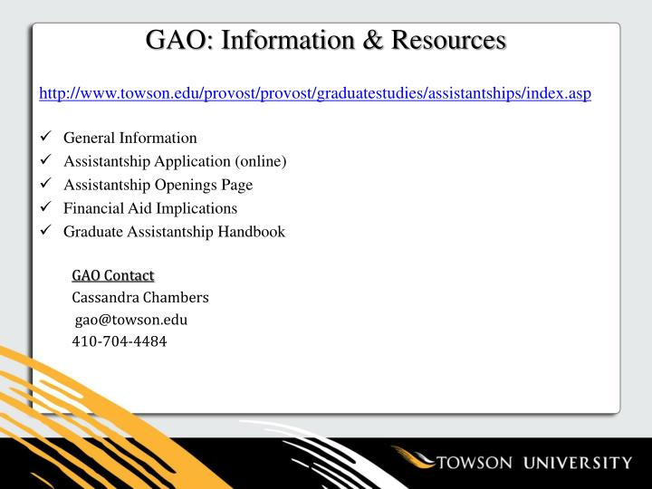 GAO: Information & Resources