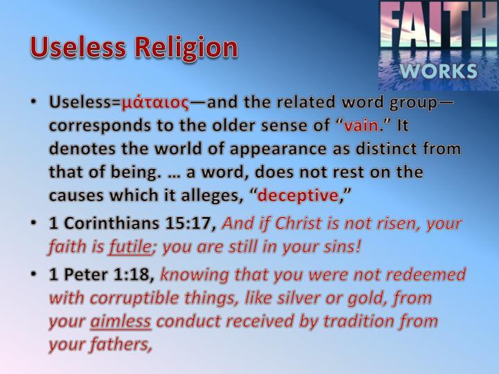 Useless Religion