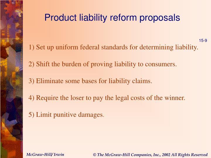 Product liability reform proposals