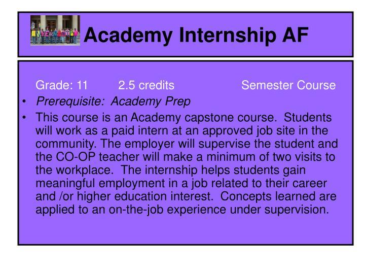 Academy Internship AF