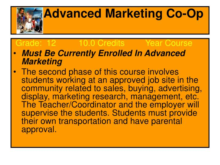 Advanced Marketing Co-Op